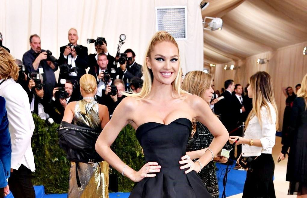 May 1 2017, met gala - Candice Swanepoel in a custom Topshop gown.